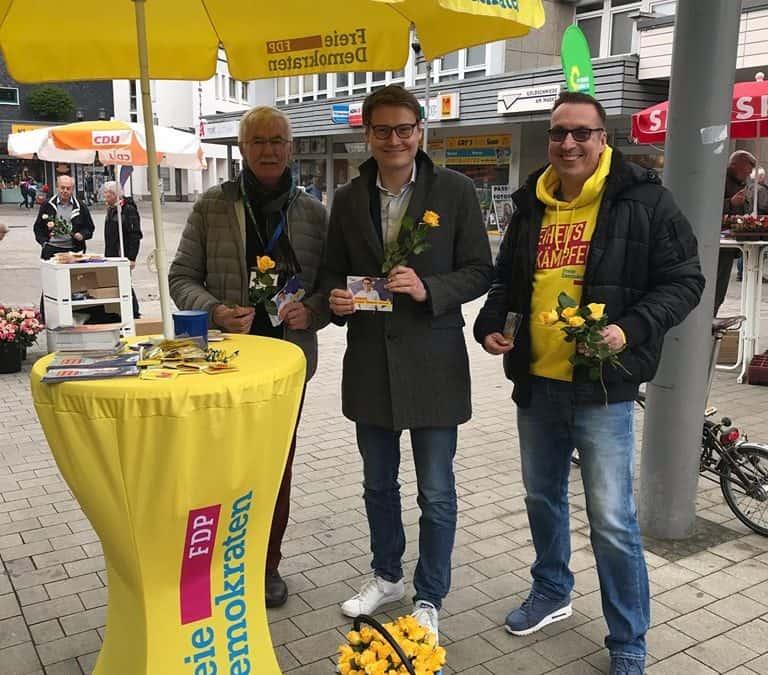 Wahlkampftour durch den Kreis Mettmann