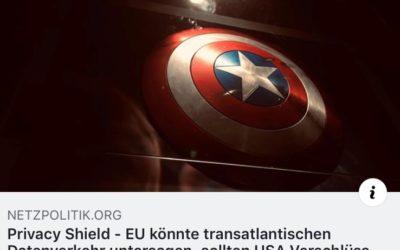 Netzpolitik berichtet über die Antwort der EU-Kommission auf meine Anfrage zum EU-US-Datenschutzschild