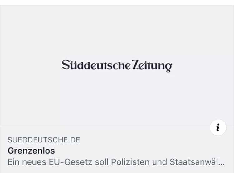 Bericht zum Thema E-Evidence in der Süddeutschen Zeitung