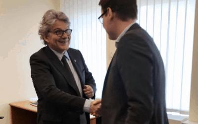Austausch mit EU-Kommissar Thierry Breton zum Finanzrahmen der EU