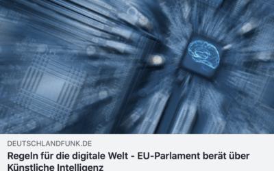 EU-Parlament berät über künstliche Intelligenz – Mein Statement im Deutschlandfunk