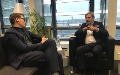 Treffen mit Haushaltskommissar Johannes Hahn