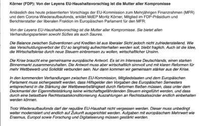 Körner (FDP): Von der Leyens EU-Haushaltsvorschlag ist die Mutter aller Kompromisse