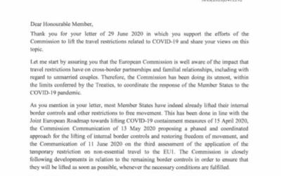 #LoveIsNotTorusim: EU-Kommissarin Johansson will Ausnahmen für binationalen Paare